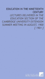 education in the nineteenth century_cover