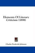 elements of literary criticism_cover