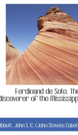 Ferdinand De Soto, The Discoverer of the Mississippi_cover