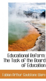 educational reform the task of the board of education_cover