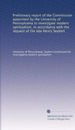 preliminary report of the commission appointed by the university of pennsylvania_cover
