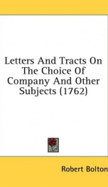 letters and tracts on the choice of company and other subjects_cover
