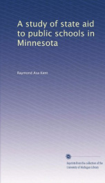 a study of state aid to public schools in minnesota_cover