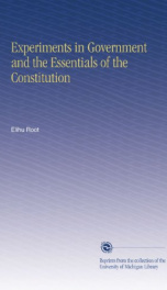 Experiments in Government and the Essentials of the Constitution_cover
