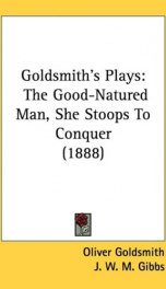 goldsmiths plays the good natured man she stoops to conquer_cover