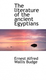 The Literature of the Ancient Egyptians_cover