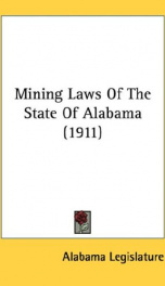 mining laws of the state of alabama_cover