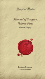 Manual of Surgery Volume First:_cover