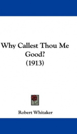 why callest thou me good_cover