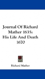 journal of richard mather 1635 his life and death 1670_cover