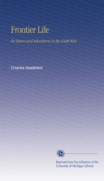 frontier life or scenes and adventures in the south west_cover