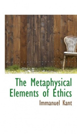 The Metaphysical Elements of Ethics_cover