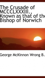 the crusade of mccclxxxiii known as that of the bishop of norwich_cover