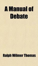 a manual of debate_cover