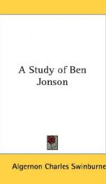 a study of ben jonson_cover