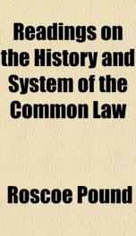 readings on the history and system of the common law_cover