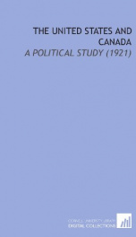 the united states and canada a political study_cover