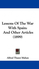 Lessons of the war with Spain and other articles_cover