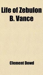 life of zebulon b vance_cover