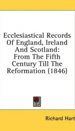 ecclesiastical records of england ireland and scotland from the fifth century_cover