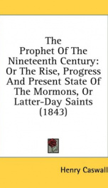 the prophet of the nineteenth century or the rise progress and present state_cover