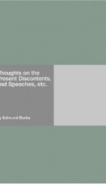 Thoughts on the Present Discontents, and Speeches, etc._cover