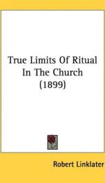 true limits of ritual in the church_cover