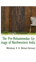 the pre mohammedan coinage of northwestern india_cover