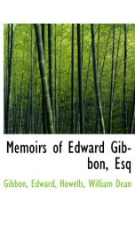 memoirs of edward gibbon esq_cover