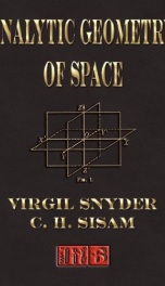analytic geometry of space_cover