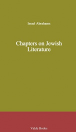 Chapters on Jewish Literature_cover
