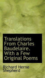 translations from charles baudelaire with a few original poems_cover