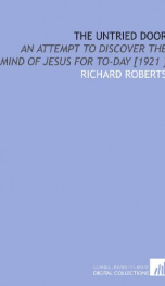 the untried door an attempt to discover the mind of jesus for to day_cover