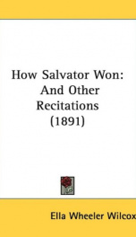 how salvator won and other recitations_cover
