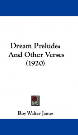 dream prelude and other verses_cover