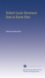 robert louis stevenson how to know him_cover
