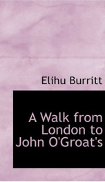 A Walk from London to John O'Groat's_cover