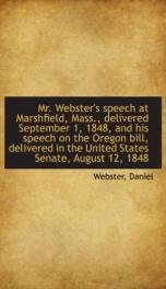 mr websters speech at marshfield mass delivered september 1 1848_cover