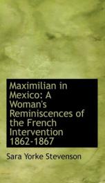Maximilian in Mexico_cover