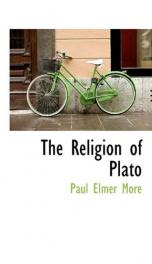 the religion of plato_cover