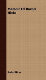 memoir of rachel hicks_cover