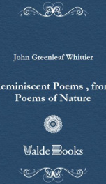 Reminiscent Poems , from Poems of Nature,_cover