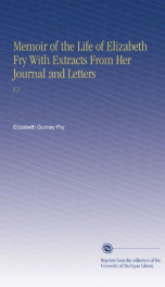 memoir of the life of elizabeth fry with extracts from her journal and letters_cover