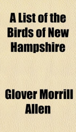 a list of the birds of new hampshire_cover