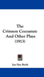 the crimson cocoanut and other plays_cover