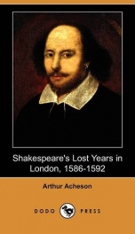 Shakespeare's Lost Years in London, 1586-1592_cover