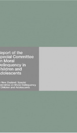 Report of the Special Committee on Moral Delinquency in Children and Adolescents_cover