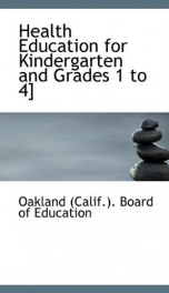 health education for kindergarten and grades 1 to 4_cover