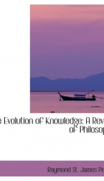 the evolution of knowledge a review of philosophy_cover