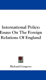 international policy essays on the foreign relations of england_cover